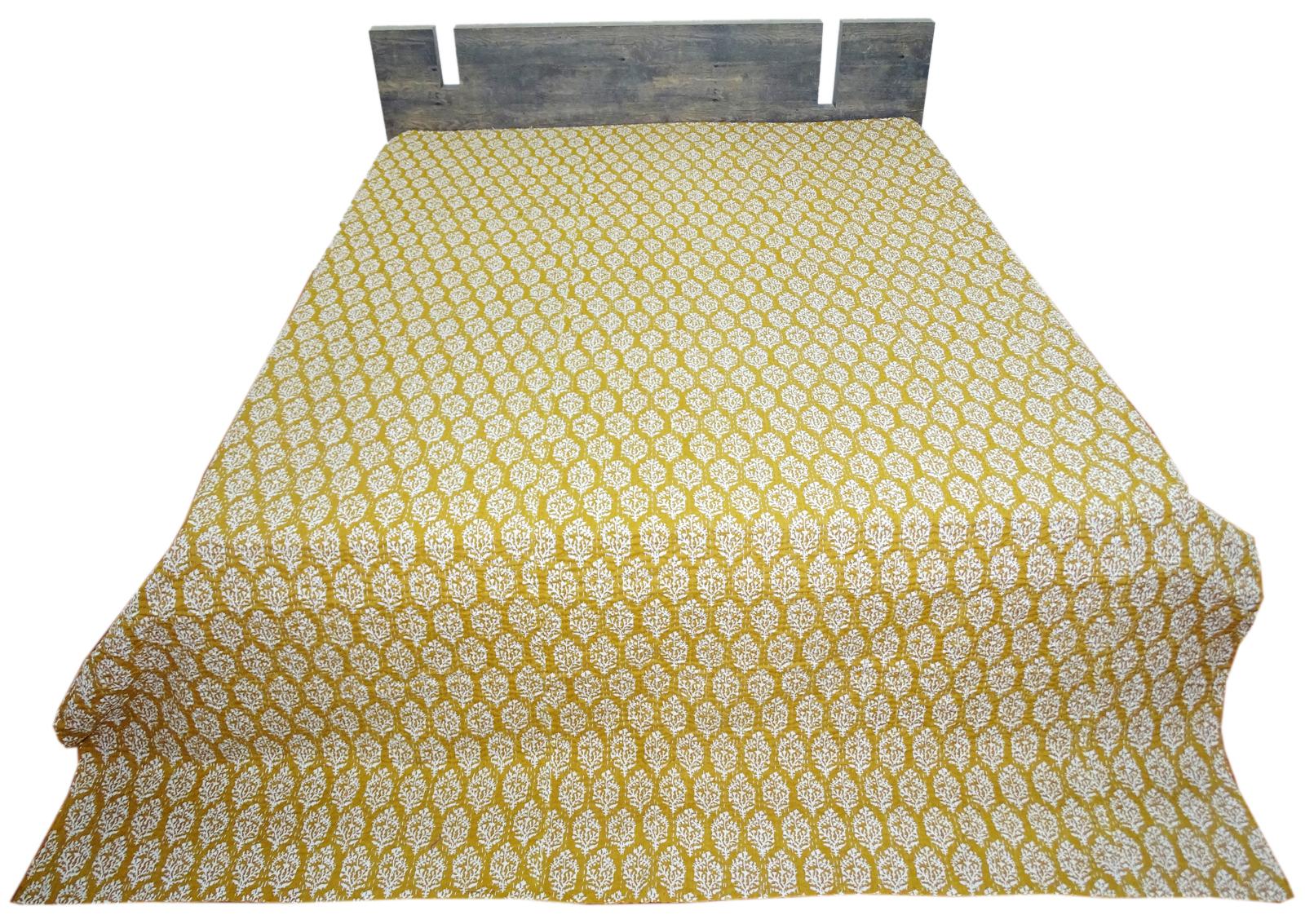 Cotton Kantha Quilt Boota Design