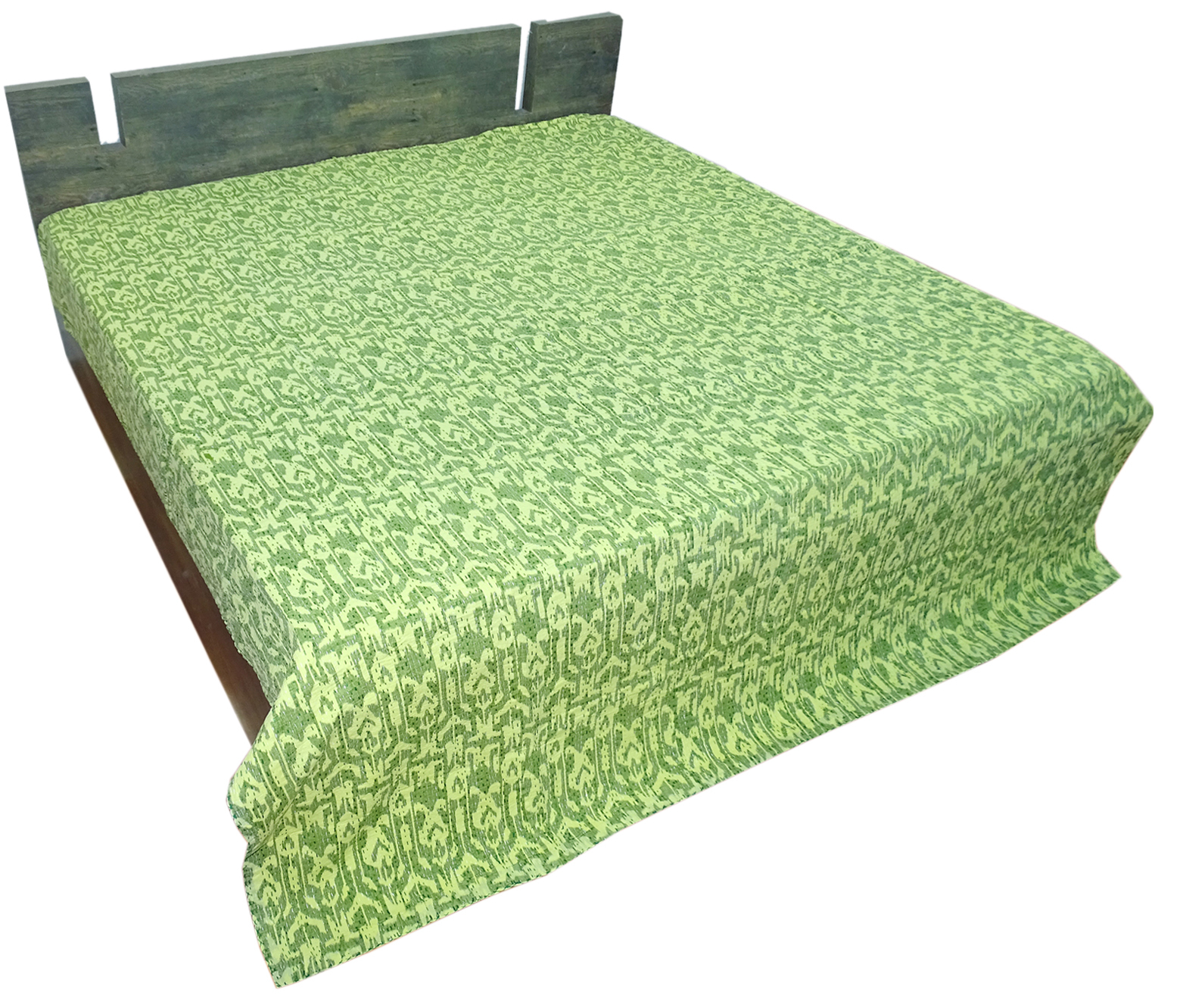 Ikat Design Kantha Quilt & Bedspread