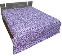 Ikat Design Kantha Quilt