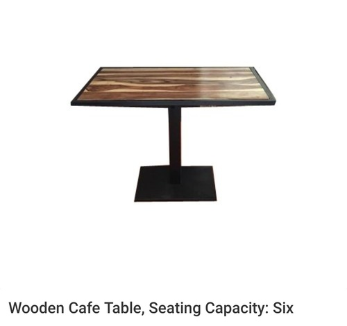 wooden cafe table
