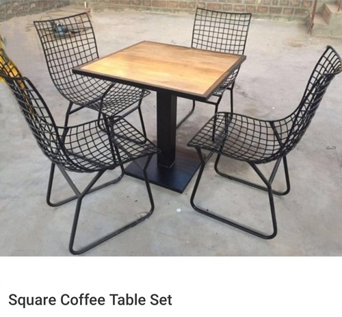 square coffee cafe table set