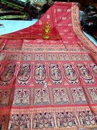 Handloom Soft Silk Baluchari Sarees
