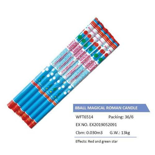 WFT6514 8BALL MAGICAL ROMAN CANDLE