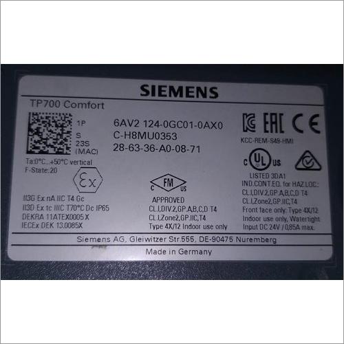 Siemens TP700 Comfort HMI Display  (6AV2124-0GC01-0AX0)
