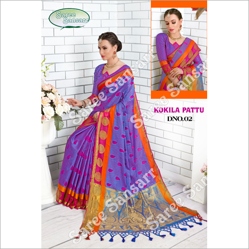 Ladies Kokila Pattu Saree