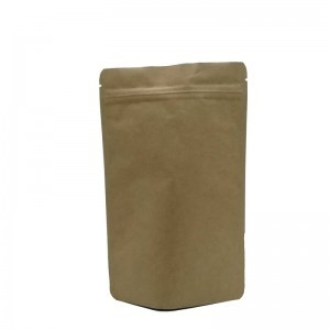 One side opaque one side transparent packaging bag with easy zipper