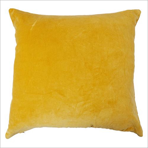 Yellow Velvet Cushion Cover