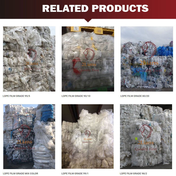 LDPE regrind natural injection plastic scrap