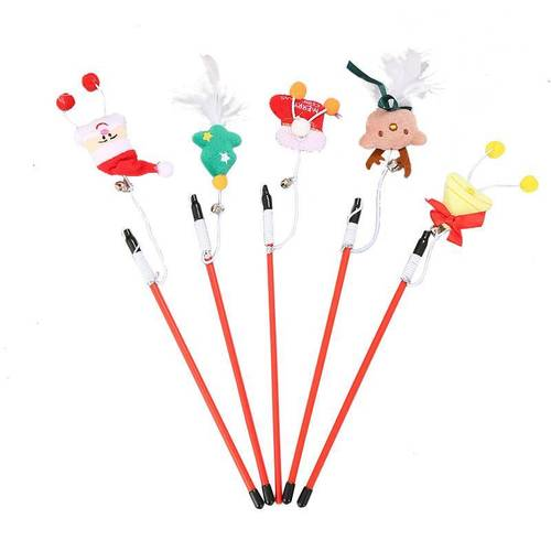 CAT INTERACTION FEATHER TEASER STICK TOY