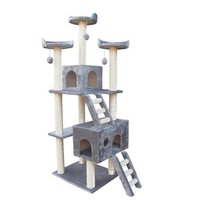 LUXURY LARGE CAT WOODEN MULTI-LAYER CLIMBING FRAME FURNITURE