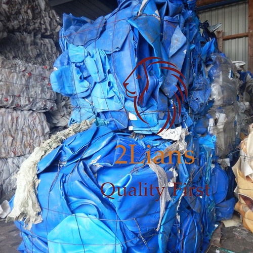 HDPE regrind mix color Injection on bales plastic scrap in Industrial Waste