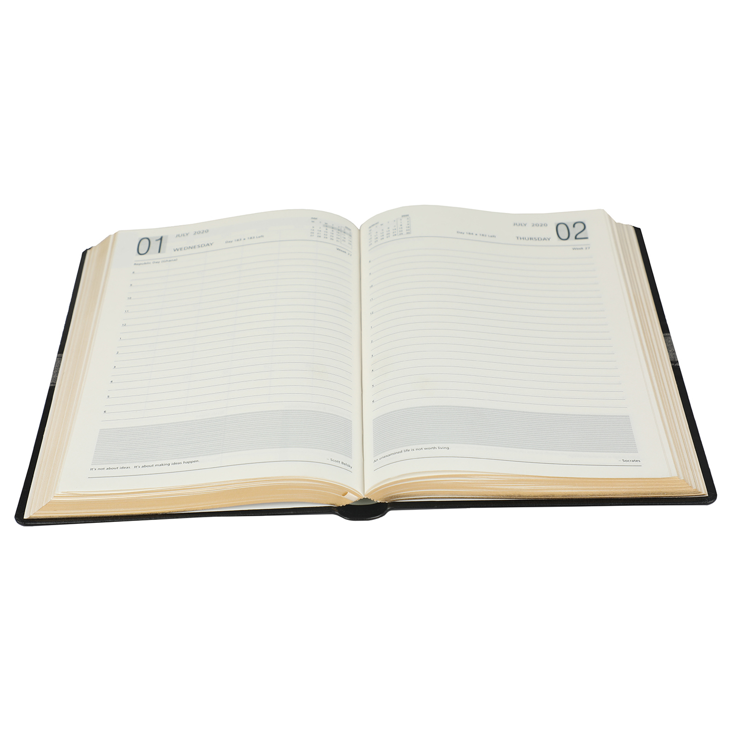 A5 Size - One Day to a Page New Year Premium Diary