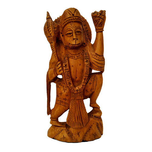 Wooden hanuman Stetu idol Stending possition 15 cm