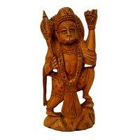 Wooden hanuman Stetu idol Stending possition 15 cm