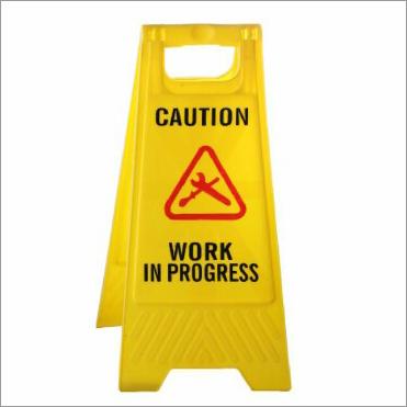 Caution Work in Progress Floor Sign Stand