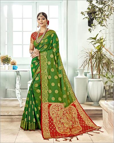 Ladies Partywear Banarasi Saree