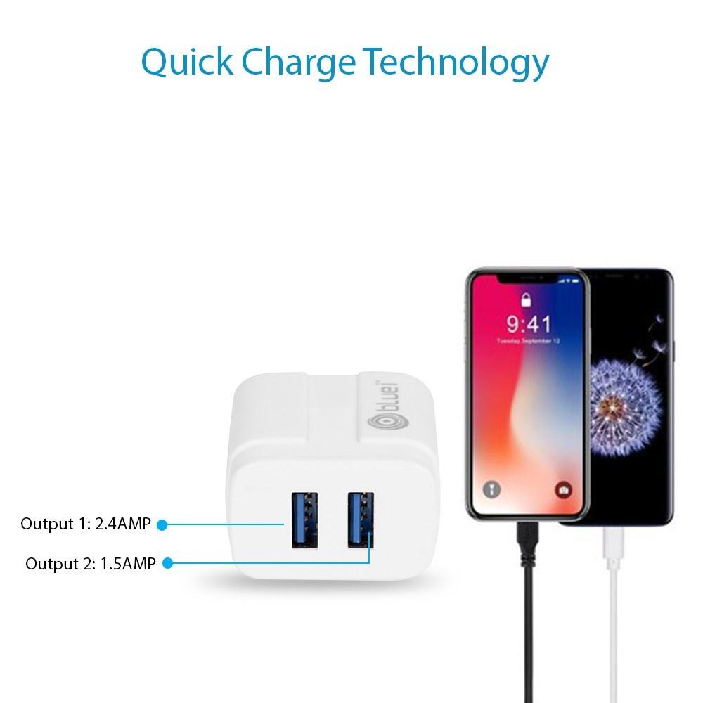 Bluei Tc-02 Energy 2.4a, Dual Usb Mobile Charger