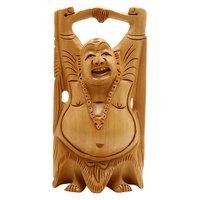 Wooden Happy mena ( laughing ) Buddha 15cm