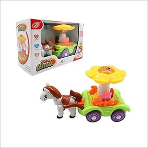 Battery Operated Sunflower Carriage Toy