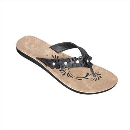 Ladies Flat PU Slippers