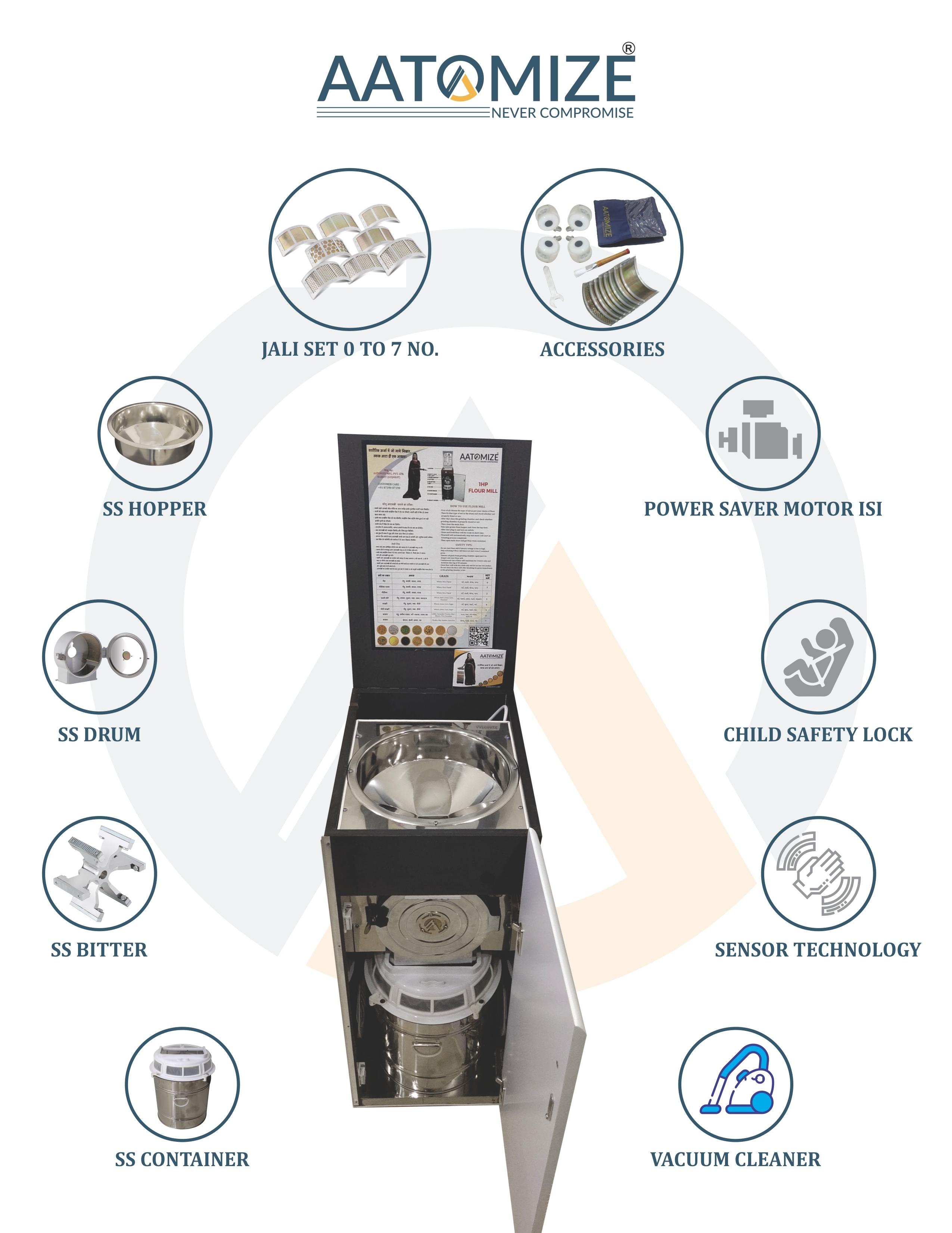 1hp Lite Wood Talky Flour Mill (T101)