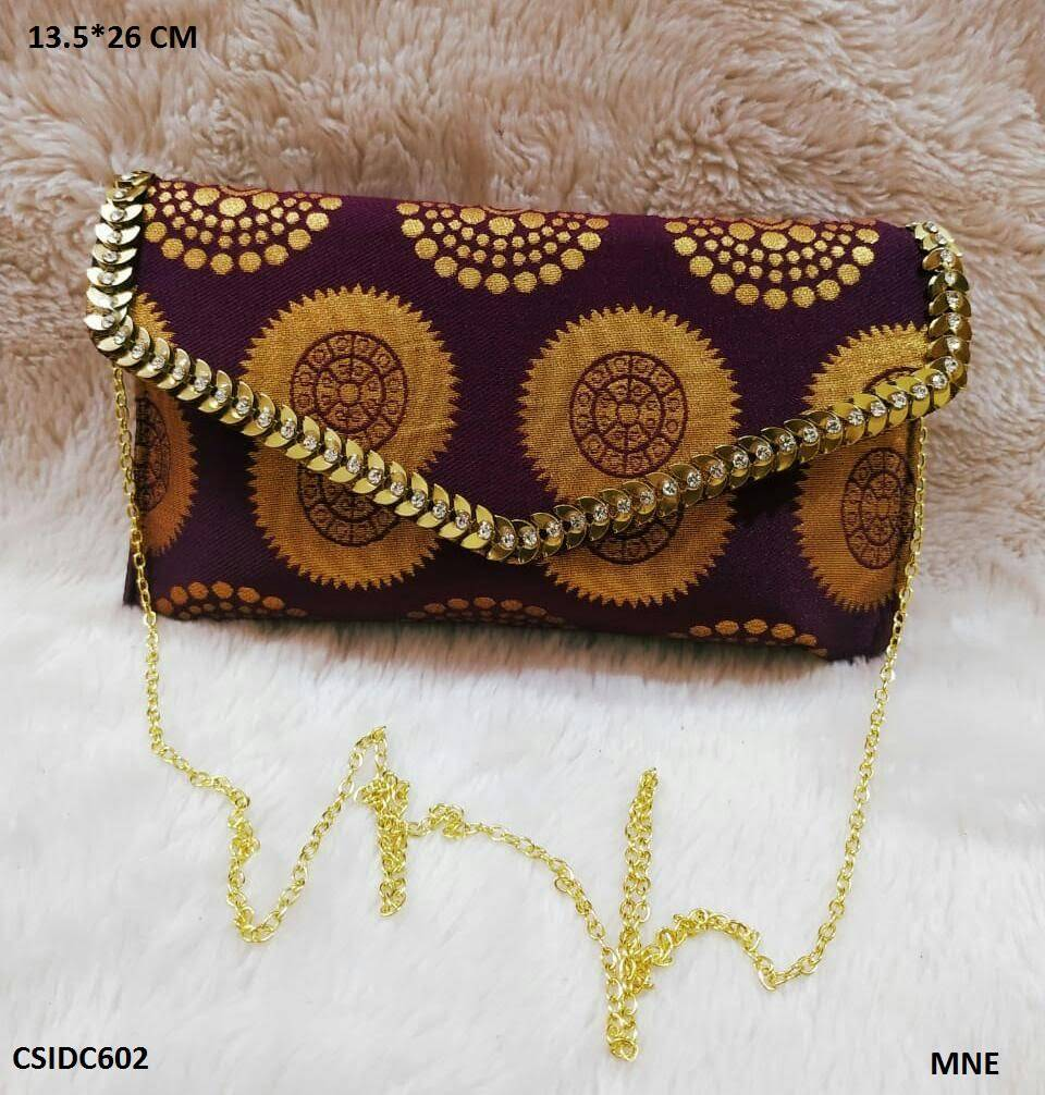 Raw Silk Clutch Bags