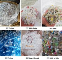 PET Natural Regrind scrap pet bottles Fabric Polyester waste recycled plastic