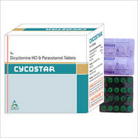 Dicyclomine HCI And Paracetamol Tablets