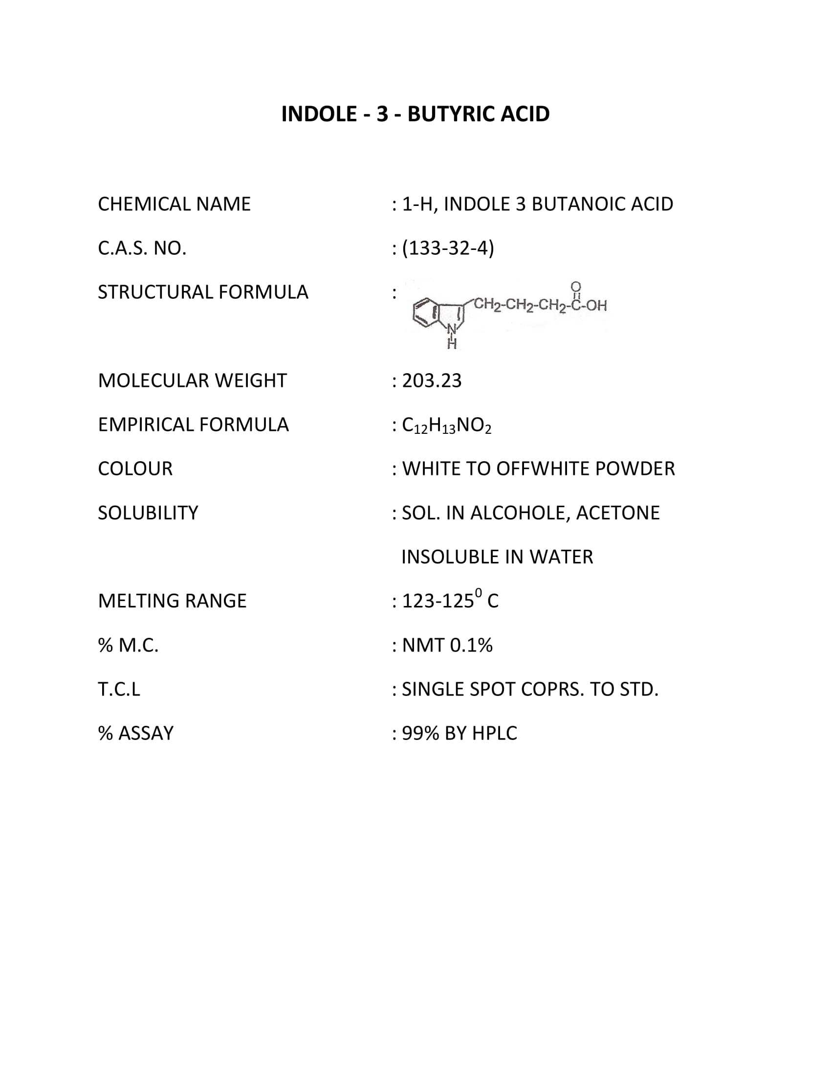 Indole 3 butyric acid