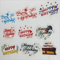 Printed Birthday Sticker