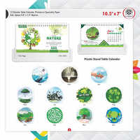 Nature Plastic Stand Table Calender