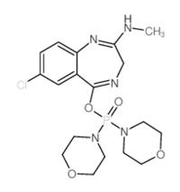 7-chloro-5-dimorpholin-4-ylphosphoryloxy-N-methyl-3H-1,4-benzodiazepin-2-amine