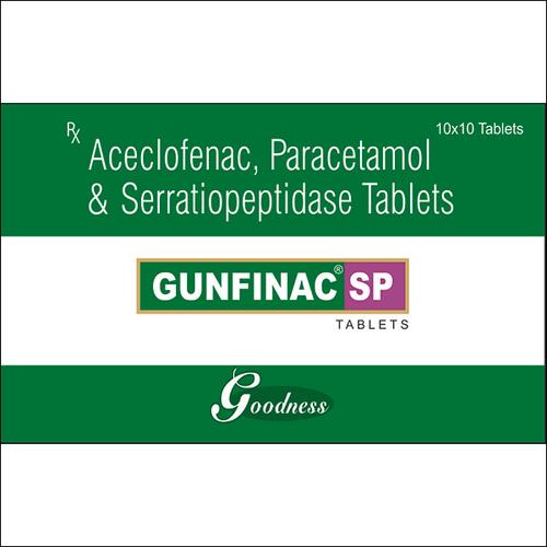 ACECLOFENAC-100mg + PARACETAMOL-325mg + SERRATIOPEPTIDASE-15mg