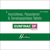 ACECLOFENAC-100mg + PARACETAMOL-325mg + SERRATIOPEPTIDASE-15mg