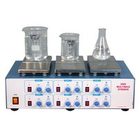 MULTI MAGNETIC STIRRER WITH HOT PLAT
