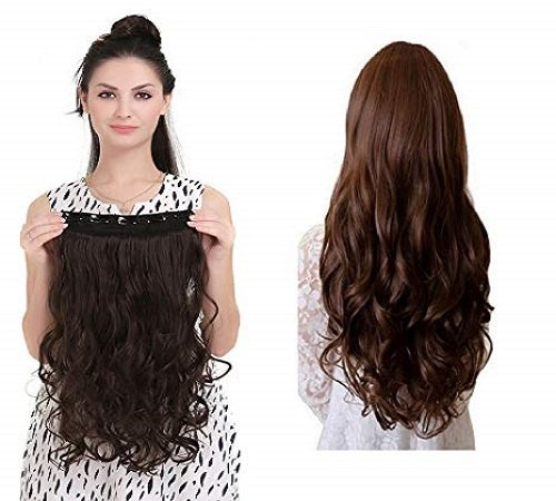 Brown Extension Hair Wig for Women