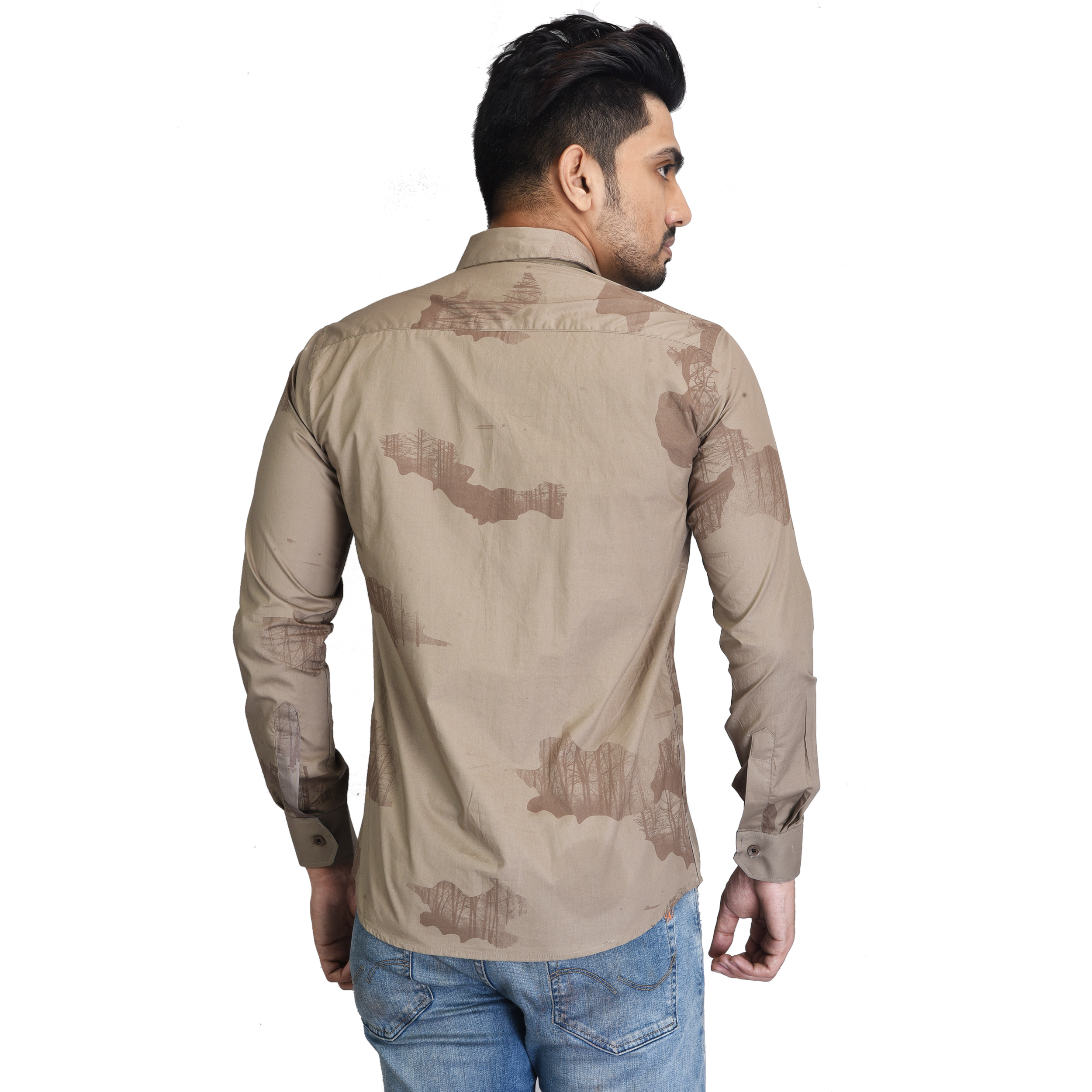 Mens Leaf Design Shirt