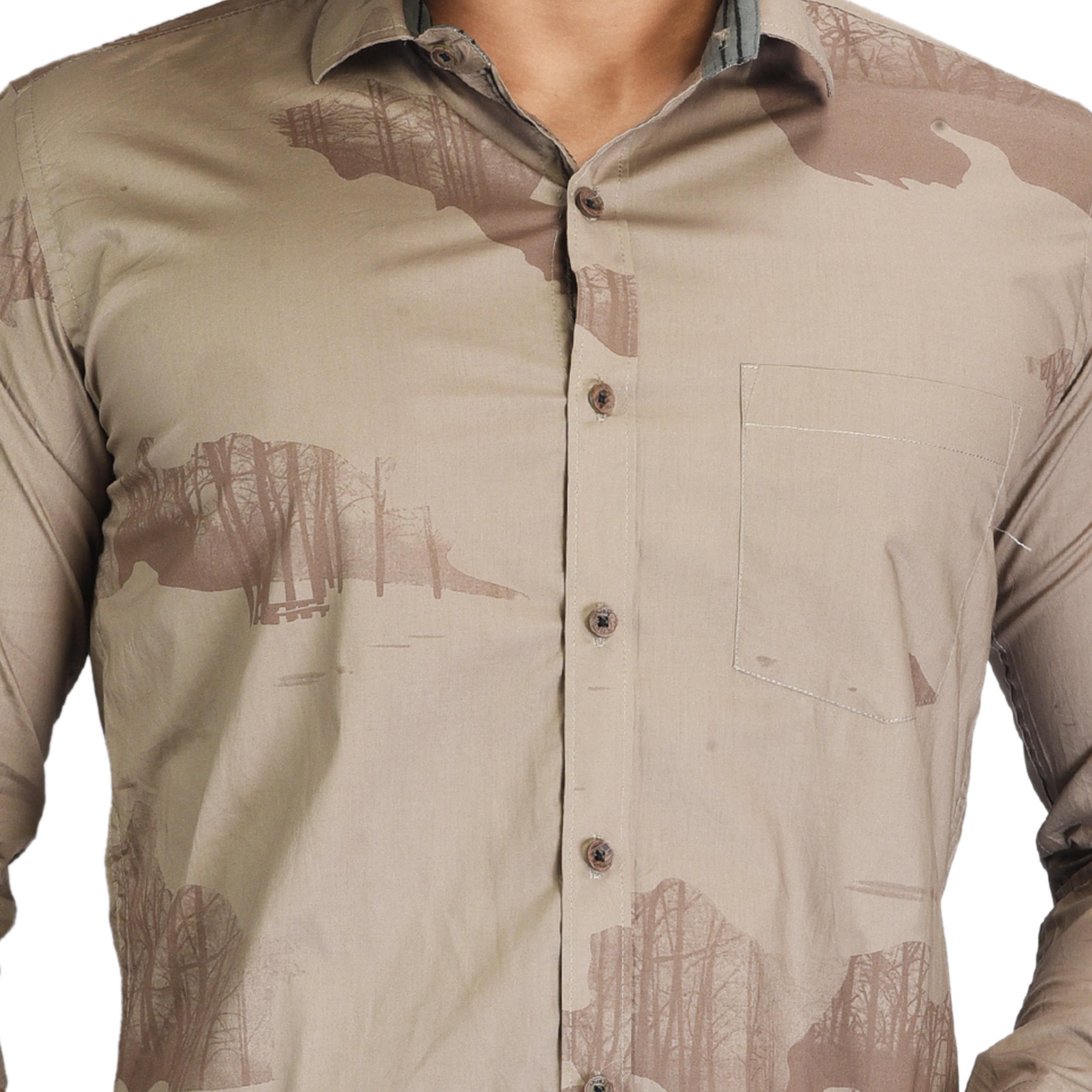 Mens Leaf Design Shirt