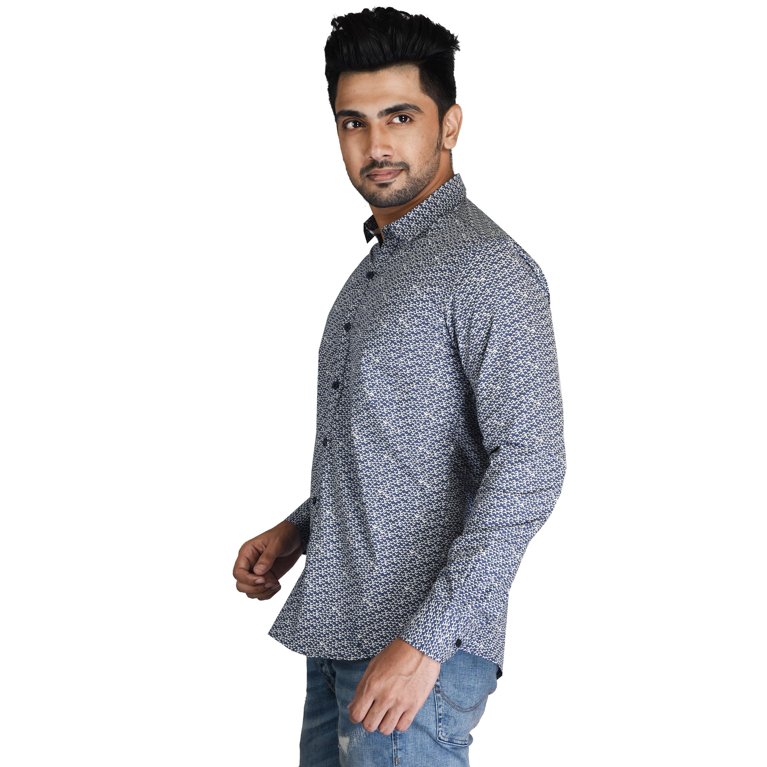 Mens Formal Striped Shirt