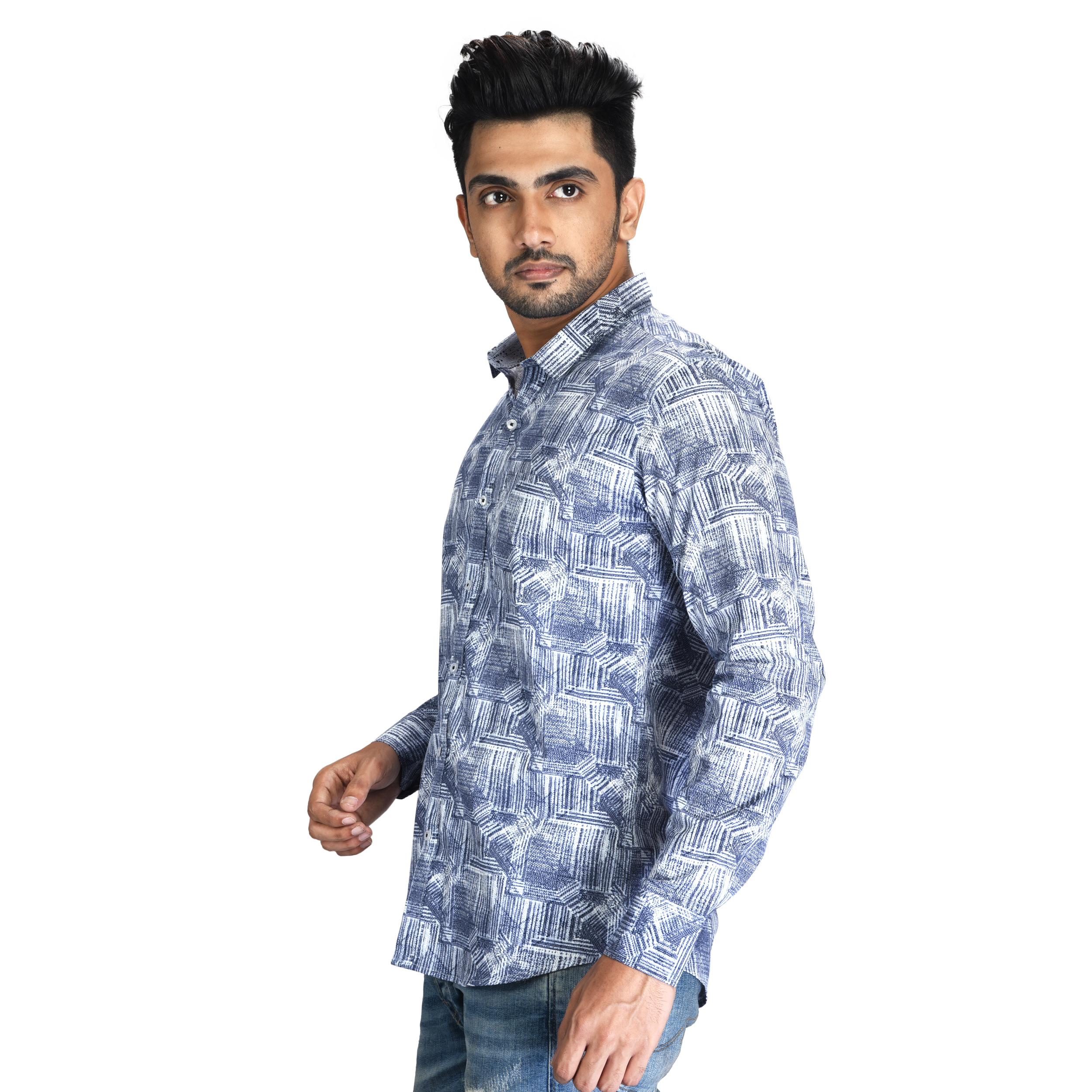 Mens Casual Plain Shirt