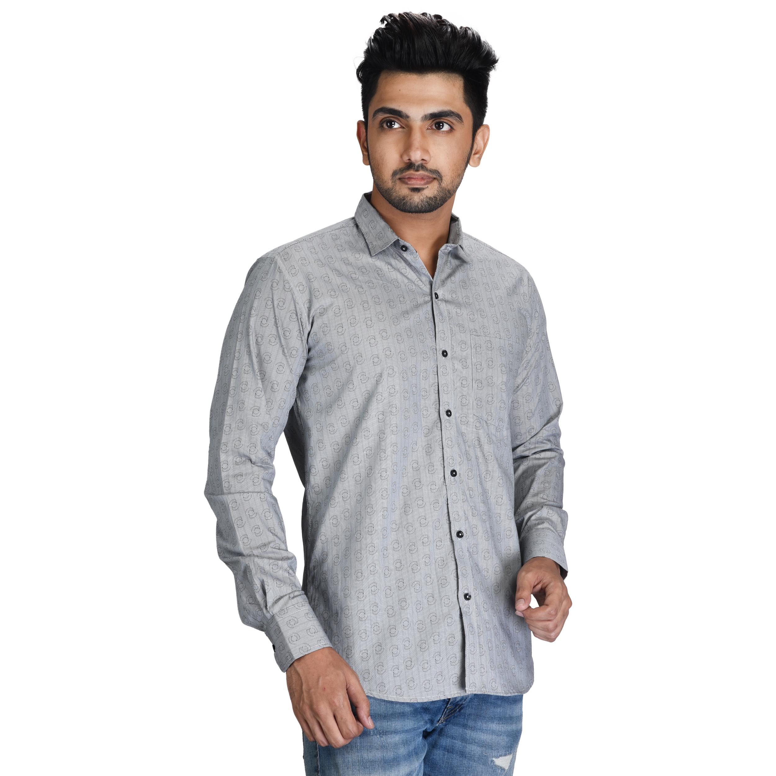Mens Full Sleeve Printed Shirt