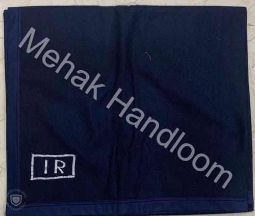 Indian Railway New Pattern Blanket - Navy Blue