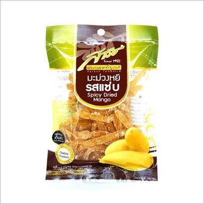 60 G Spicy Dried Mango Certifications: Gmp