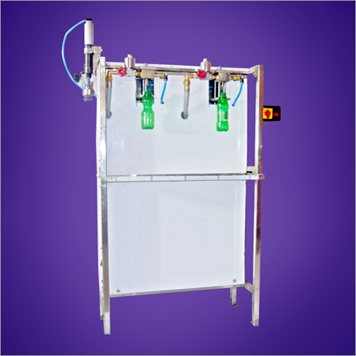 Semi Automatic 2 Head Pet Bottle Soda Filling Machine
