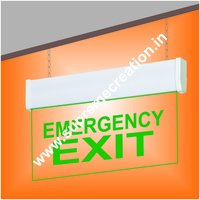 Green Exit Sign With Lights