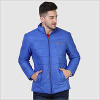 Mens Full Sleeve Light Blue Jacket
