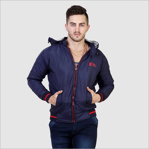 Mens Full Sleeve Solid Zipper Jacket