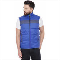 Mens Half Collar Sleeveless Jacket