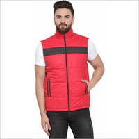 Mens Sleeveless Colorblock Jacket