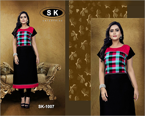 Ladies Round Neck Cotton Kurti